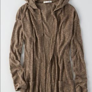American Eagle Feather Light Hooded Cardigan
